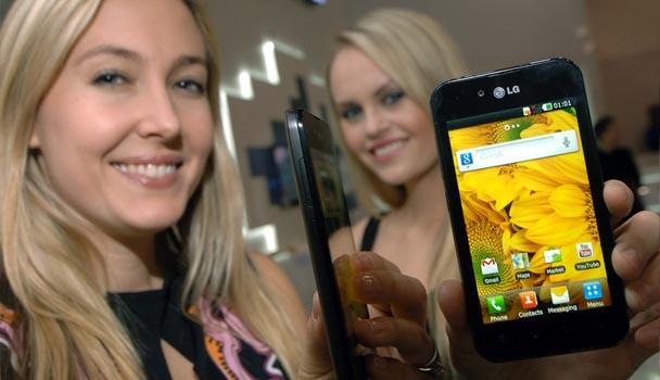 Тонкий и легкий LG Optimus Black P970