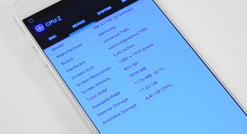 каталог Samsung Galaxy A7