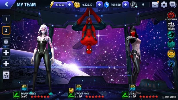игра MARVEL Future Fight на телефон