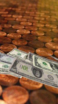 заставки на телефон Падающие деньги 3D живые обои