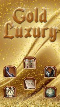 скачать тему Gold Luxury Theme Deluxe на телефон Huawei бесплатно