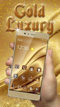 лучшая тема Gold Luxury Theme Deluxe на телефон Samsung