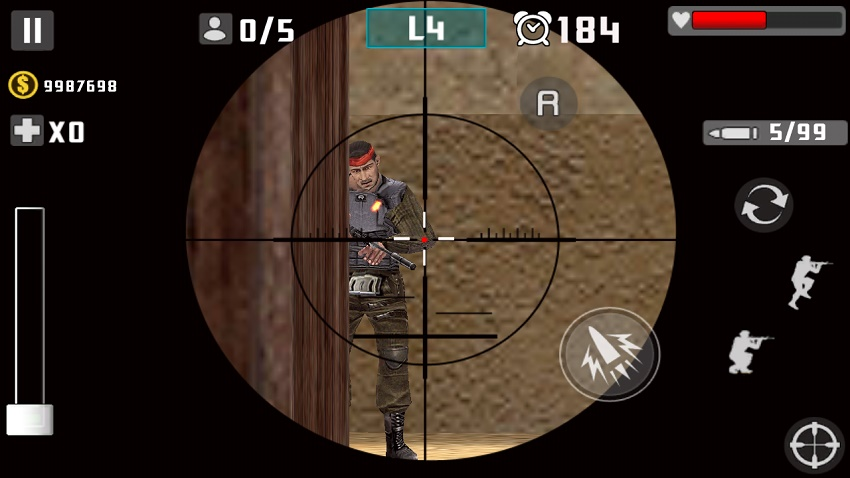 3D игра Gun Shot Fire War на андроид