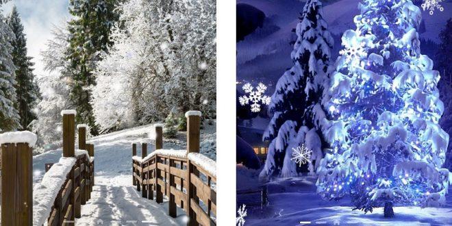 приложение Живые обои Снегопад