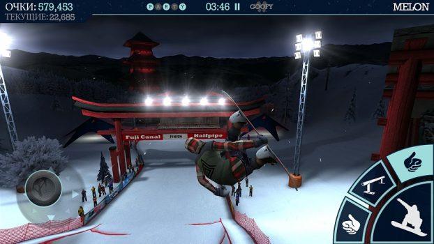 спортивная игра Snowboard Party Lite на андроид